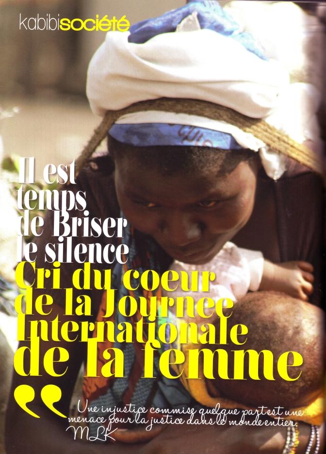 Il est temps de Briser le silence : Cri du cœur de la Journée Internationale de la femme